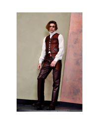 Jiri Kalfar - Brown Brocade Trousers for Men - Lyst