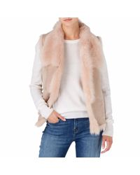Gushlow and Cole - Pink Knit Back Gilet - Lyst