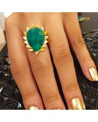 Meghna Jewels - Claw Green Onyx Ring - Lyst