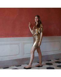 A - M M - E - Mini Gold & Brown - Lyst
