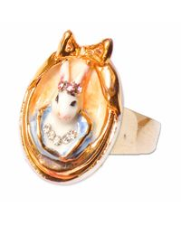 Hop Skip & Flutter - Multicolor Princess Cottontail Bunny Cameo Ring - Lyst