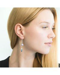 O.YANG | Blue Pearl & Aquamarine Rod Earrings | Lyst