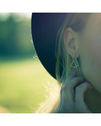 OSYLIA - Multicolor Triangle Earrings - Lyst