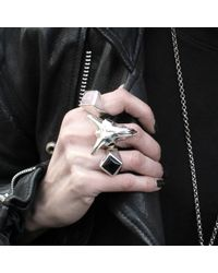 Hjälte Jewellery - Metallic Goat Skull Ring for Men - Lyst