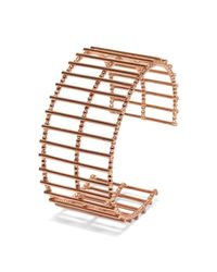 Cara Tonkin | Multicolor Theda Stripe Cuff Rose Gold | Lyst