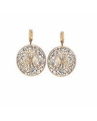 Parisa Jewellery - Metallic Talisman Earrings Diamonds - Lyst