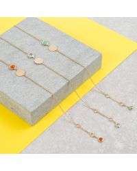 Auree Jewellery - Metallic Bali 9ct Gold January Birthstone Bracelet Garnet - Lyst