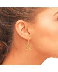 Latelita London - Metallic Cosmic Large Open Star Earring Gold - Lyst