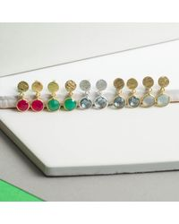 Auree Jewellery - Metallic Salina Gold Vermeil Disc & Chrysoprase Green Earrings - Lyst