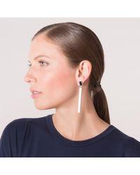 Emma Calvert - Long Drop Earrings Sky Blue - Lyst