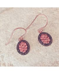 LÁTELITA London - Diamond Oval Pink Tourmaline Earring - Lyst