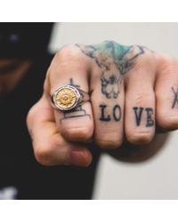 Serge Denimes - Metallic Compass Ring for Men - Lyst