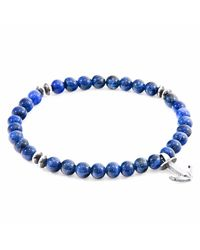 Anchor & Crew - Blue Sodalite Starboard Silver & Stone Bracelet for Men - Lyst