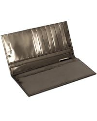 Xenab Lone - Metallic Mirror Bi Fold Calfskin Leather Wallet - Lyst