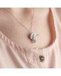 Ecrannium - Metallic The Dragon Crested Head Necklace - Lyst