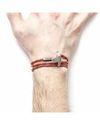 Anchor & Crew | All Red Bruce Rope Bracelet for Men | Lyst