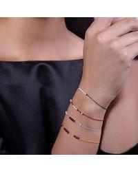 MKS JEWELLERY - Multicolor 18kt Gold Beads Blue Bracelet - Lyst