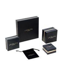 Latelita London - Metallic Graduated Star Drop Necklace Sterling Silver - Lyst