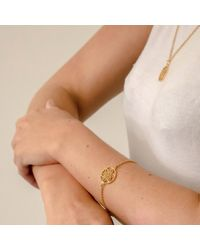 Hoochie Mama | Metallic Daffodil Medallion Bracelet | Lyst