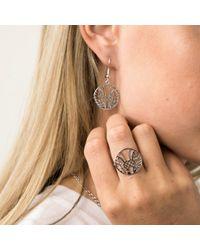 Hoochie Mama   Metallic Thistle Medallion Ring   Lyst