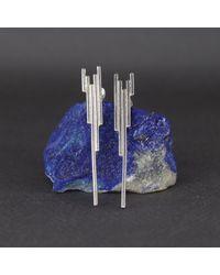 Marcia Vidal - Metallic Silver Stalactite Earrings - Lyst
