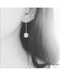 Fou Jewellery - Metallic Flowerbomb Drop Earrings In Sterling Silver - Lyst