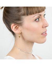 Marcia Vidal - Metallic Silver Studded Choker - Lyst