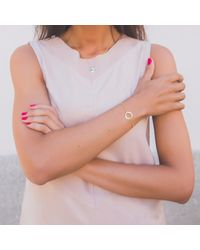 TARTESIA | Metallic Astarte Circle Bracelet Gold | Lyst
