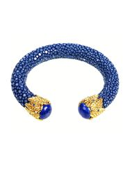 Latelita London | Stingray Bangle Royal Blue & Lapis | Lyst