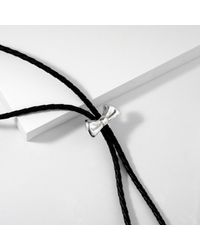 MARIE JUNETM Jewelry Metallic Bow Silver Bolo Tie