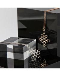 Monarc Jewellery - Metallic The Vita Hive Necklace 9ct Gold - Lyst
