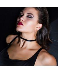 Talia Naomi - Metallic Black Supernova Choker - Lyst