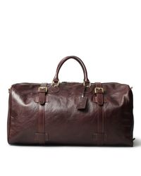 Maxwell Scott Bags | Luxury Italian Leather Extra Large Luggage Bag Flero Dark Chocolate Brown for Men | Lyst