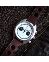 MHD Watches - Multicolor Mhd Cr1 Panda Dial Chronograph Watch With Brown Strap for Men - Lyst