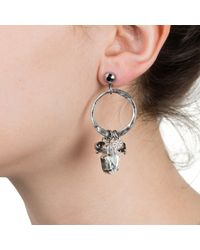 Nadia Minkoff - Metallic Hamsa Earring Silver - Lyst
