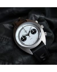 MHD Watches - Mhd Cr1 Panda Dial Chronograph Watch With Black Strap for Men - Lyst