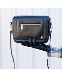Jennifer Hamley - Mini Kt Leather Crossbody Handbag In Black - Lyst