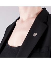 Edge Only - Metallic At Symbol Lapel Pin In Silver - Lyst