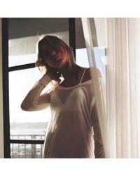Vyayama | White Seamless Cashmere Modal T-shirt | Lyst
