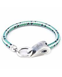 Anchor & Crew - Green Dash Stornoway Rope Bracelet for Men - Lyst