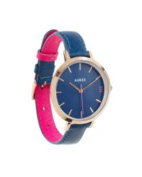 Auree Jewellery - Multicolor Montmartre Rose Gold Watch With Royal Blue & Hot Pink Strap - Lyst
