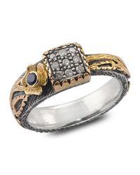 Emma Chapman Jewels - White Gardner Diamond & Blue Sapphire Ring - Lyst