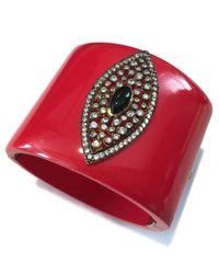 Meghna Jewels - Evil Eye Red Marquise Cuff - Lyst