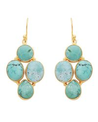 Carousel Jewels | Blue Oval & Circle Turquoise Earrings | Lyst