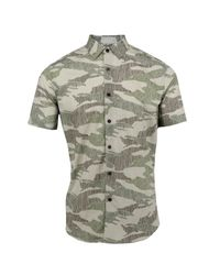Lords of Harlech - Green Scott Shirt In Olive Scribble Camo for Men - Lyst