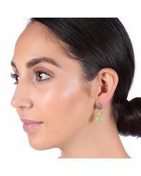 Carousel Jewels - Green Crystal & Chalcedony Drop Earrings - Lyst