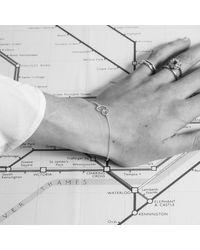 Auree Jewellery   Metallic Ilias Silver & Gold Interlinking Rings Bracelet   Lyst