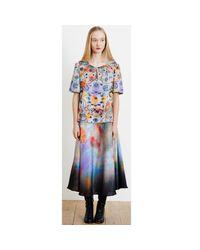 Klements - Blue Eglantine Skirt In Painters Print - Lyst