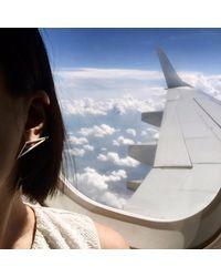 J.Y. GAO - Metallic Flight Earrings - Lyst