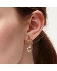 Alison Fern Jewellery - Metallic Lucy Gold & Silver Circle Stud Earrings - Lyst